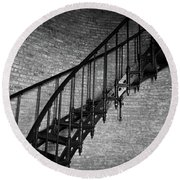 Enchanted Staircase II - Currituck Lighthouse Round Beach Towel