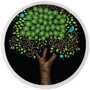 Enchanted Tree Round Beach Towel by Serena King