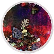 Enchanted Twilight Round Beach Towel by Donna Blackhall
