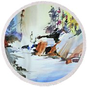 Enchanted Wilderness Round Beach Towel