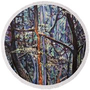 Enchanted Woods Round Beach Towel