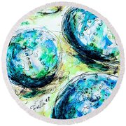 Enchanthing Sea Urchins Round Beach Towel