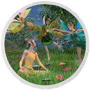 Enchanting Souls Round Beach Towel by Betsy Knapp