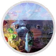 Enchantment Of The Seas Round Beach Towel by Richard Barone