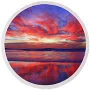 Round Beach Towel featuring the photograph Encinitas Energy by John F Tsumas