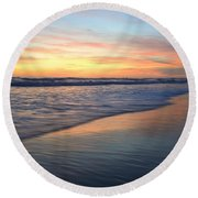 Encinitas Blue  Round Beach Towel