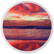 Encinitas Energy Afterglow Round Beach Towel
