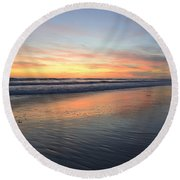 Round Beach Towel featuring the photograph Encinitas Light by John F Tsumas