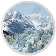 Glaciers End Of A Journey Round Beach Towel