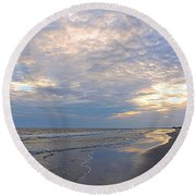 End Of Day Beauty Round Beach Towel