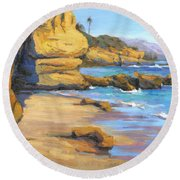 End Of Summer / Laguna Beach Round Beach Towel