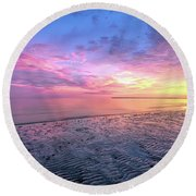 End Of The Day. Round Beach Towel