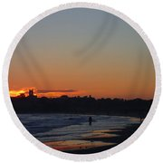 End Of The Island Day. Round Beach Towel by Robert Nickologianis