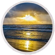 End Of The Season Padre 29 Round Beach Towel