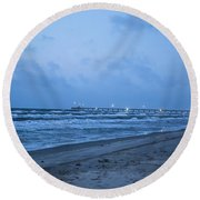 End Of The Season Padre 3 Round Beach Towel