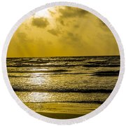 End Of The Season Padre 85 Round Beach Towel