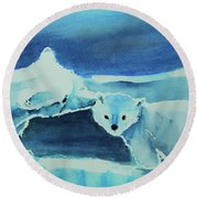 Endangered Bears Round Beach Towel