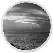 Ending The Day On Mobile Bay Round Beach Towel
