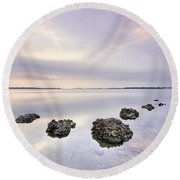Endless Echoes Round Beach Towel