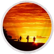 Round Beach Towel featuring the photograph Endless Fiju by T Brian Jones