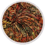 Round Beach Towel featuring the mixed media Endless by Sami Tiainen