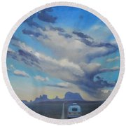Endless Sky Round Beach Towel