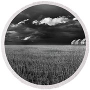 Round Beach Towel featuring the photograph Endless Sky by John Poon