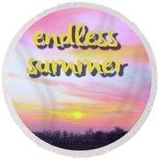 Endless Summer Design Round Beach Towel