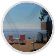 Endless View Boondocking At The Grand Canyon Round Beach Towel