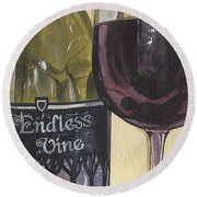Endless Vine Panel Round Beach Towel