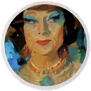 Endora Round Beach Towel by Richard Laeton