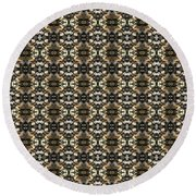 Round Beach Towel featuring the mixed media Endurance by Clark Ulysse