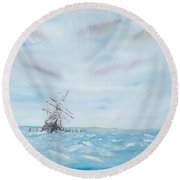 Endurance Trapped By The Antarctic Ice Round Beach Towel
