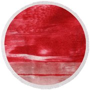 Energy- Abstract Art By Linda Woods Round Beach Towel