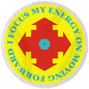 Energy Focus Round Beach Towel