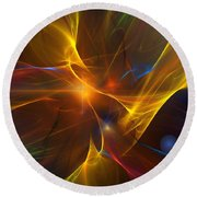 Energy Matrix Round Beach Towel by David Lane