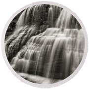 Lower Falls #3 Round Beach Towel