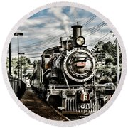 Engine 154 Round Beach Towel