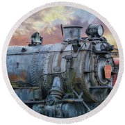 Round Beach Towel featuring the photograph Engine 3750 by Lori Deiter
