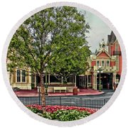 Engine Co 71 Walt Disney World Main Street Mp Round Beach Towel