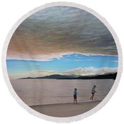 English Bay Vancouver Round Beach Towel