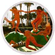 Enjoying  Key West Round Beach Towel