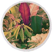 Enlightened Jungle Round Beach Towel