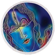 Enlightening Shiva Round Beach Towel