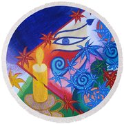 Enlightenment  Round Beach Towel