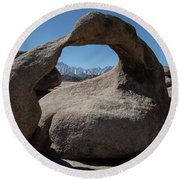 Round Beach Towel featuring the photograph Enlightning by Sandra Bronstein