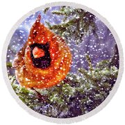 Round Beach Towel featuring the photograph Enough Of This White Stuff by Diane Schuster