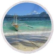 Entalula Island Round Beach Towel