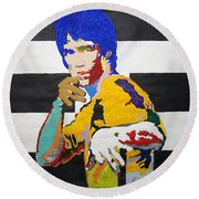 Enter The Dragon Li Round Beach Towel