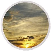 Round Beach Towel featuring the photograph Enter The Evening by Robert Knight